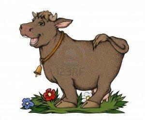 Quand la bienfaitrice n'est pas celle qu'on imagine... dans animaux-sauvetage-barbarie animale-divers 4357323-un-drole-de-vache-avec-des-fleurs-gouache-sur-papier-de-couleurs1-300x248